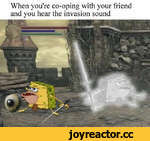 When you're co-oping with your friend and you hear the invasion sound