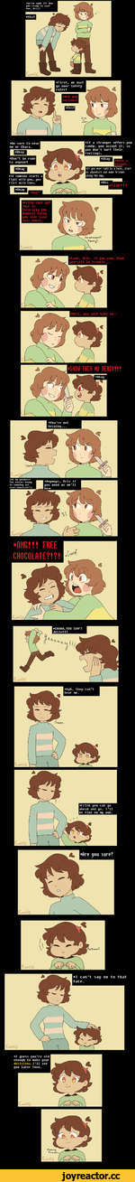 """»Don't be rude to anyone* »If a stranger offers you candy, you accept it, so you don't hurt their feelings. mi »Frisk shut up* That is literally the dumbest thing you euer said this month. Luvnc^ Look, Kris. If you »Vou're not helping___ °^c I lLuvac.""""£A LvWhC'Si »Frisk you can go ahe"""