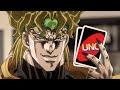 Jojo's Bizzare Uno Game (JJBA in real life),Entertainment,JoJo's Bizzare Adventure,Parody,Dio Brando,Jotaro Kujo,Uno,Jojoke,Stardust Crusaders,Anime,Cartoon in real life,anime in real life,Uno Game,Three buff men (or should I say two...) having an intense Uno game in a random Swiss apartment, what