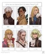 give me six characters to make íanart oí! FEMRIS СШ if GERMJ